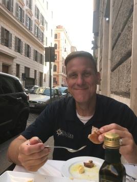 A fun date on a street in Rome