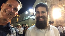 John with an Orthodox Jew at the Western Wall