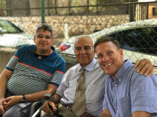 Ramon, Nicolo and John at the Nazareth church of Christ