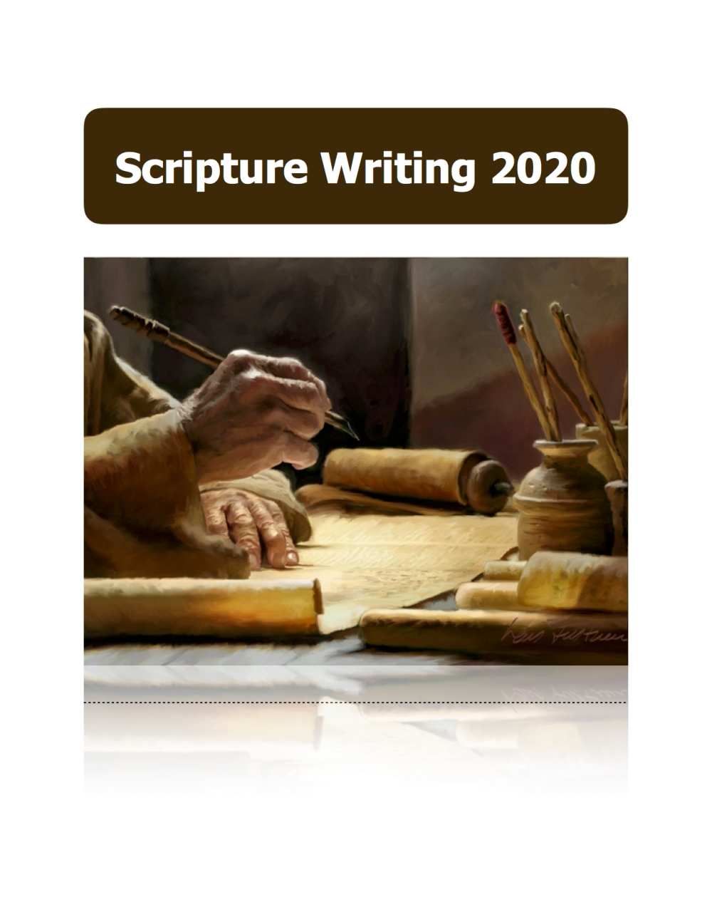 Scripture Writing 2020 cover